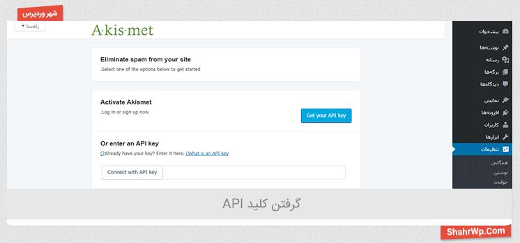 کلید API اکیسمت