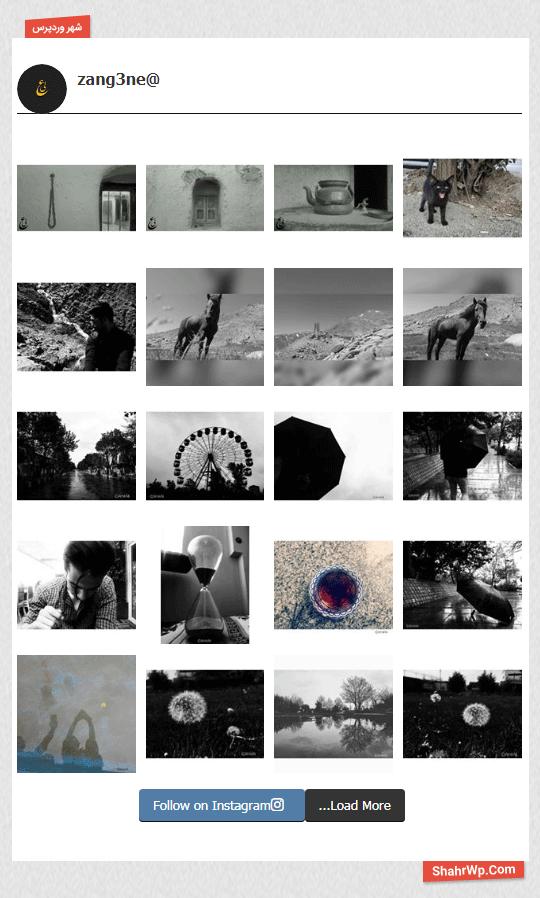 نمایش عکس در افزونه Instagram Feed