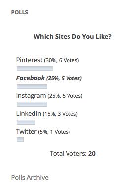 نمونه نظرسنجی ایجاد شده با افزونه Wp-Polls