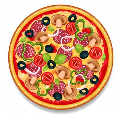 مقایسه پیتزا با تبلیغ نویسی در وب